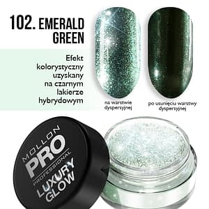 MOLLON PRO PIGMENT LUXURY GLOW — 102 EMERALD GREEN